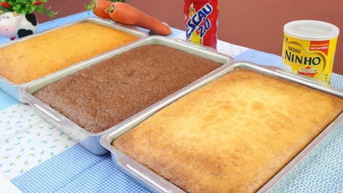 3 receitas de bolos mais procuradas da internet