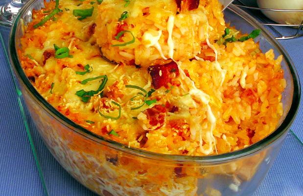 arroz à carbonara