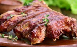 Costelinha de porco assada