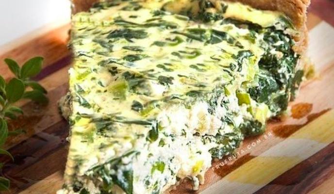 Torta de Espinafre Cremosa