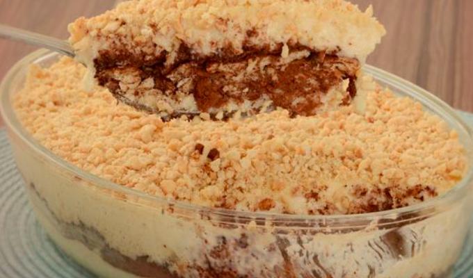 Sobremesa deliciosa de Paçoquitas