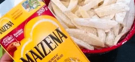 batatas fritas com maizena