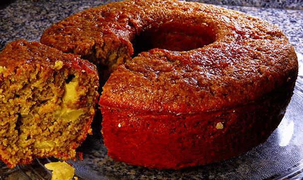 bolo integral de aveia com maçã