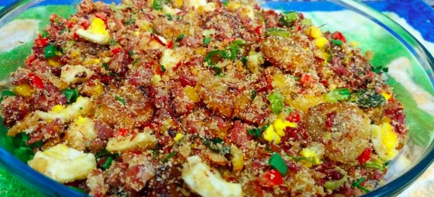 farofa com carne seca