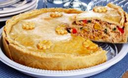 torta de frango com requeijão