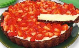 torta de morango deliciosa