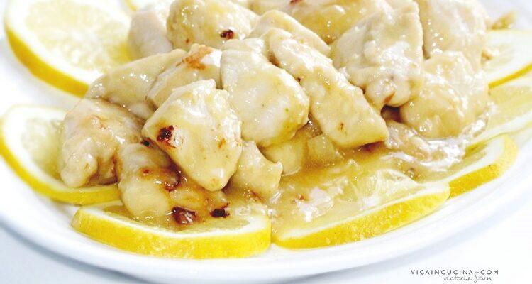 Nuggets de frango com limão