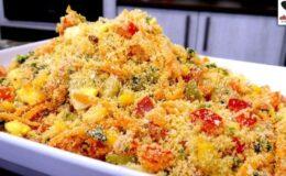 Farofa Fria para Churrasco deliciosa e simples todos adoram