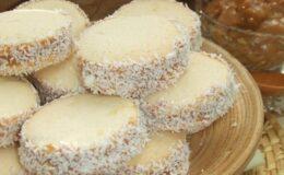 Alfajor de Maisena sobremesa deliciosa sucesso em casa