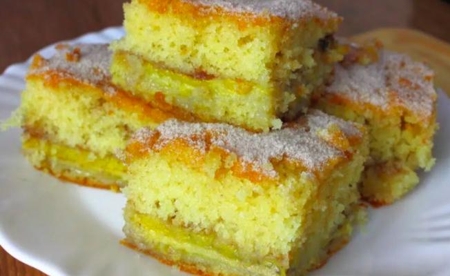 bolo de banana bem fofinho