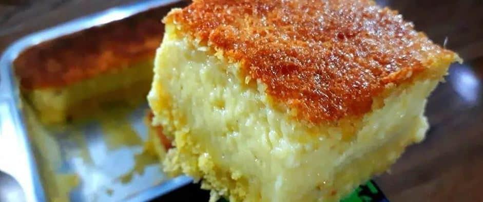 o Bolo de milho cremoso