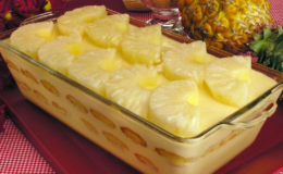 Cassata de Abacaxi aprenda a fazer é uma delícia e simples